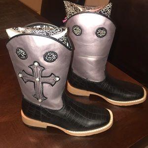Blazin Roxx Little girls cowgirl boots